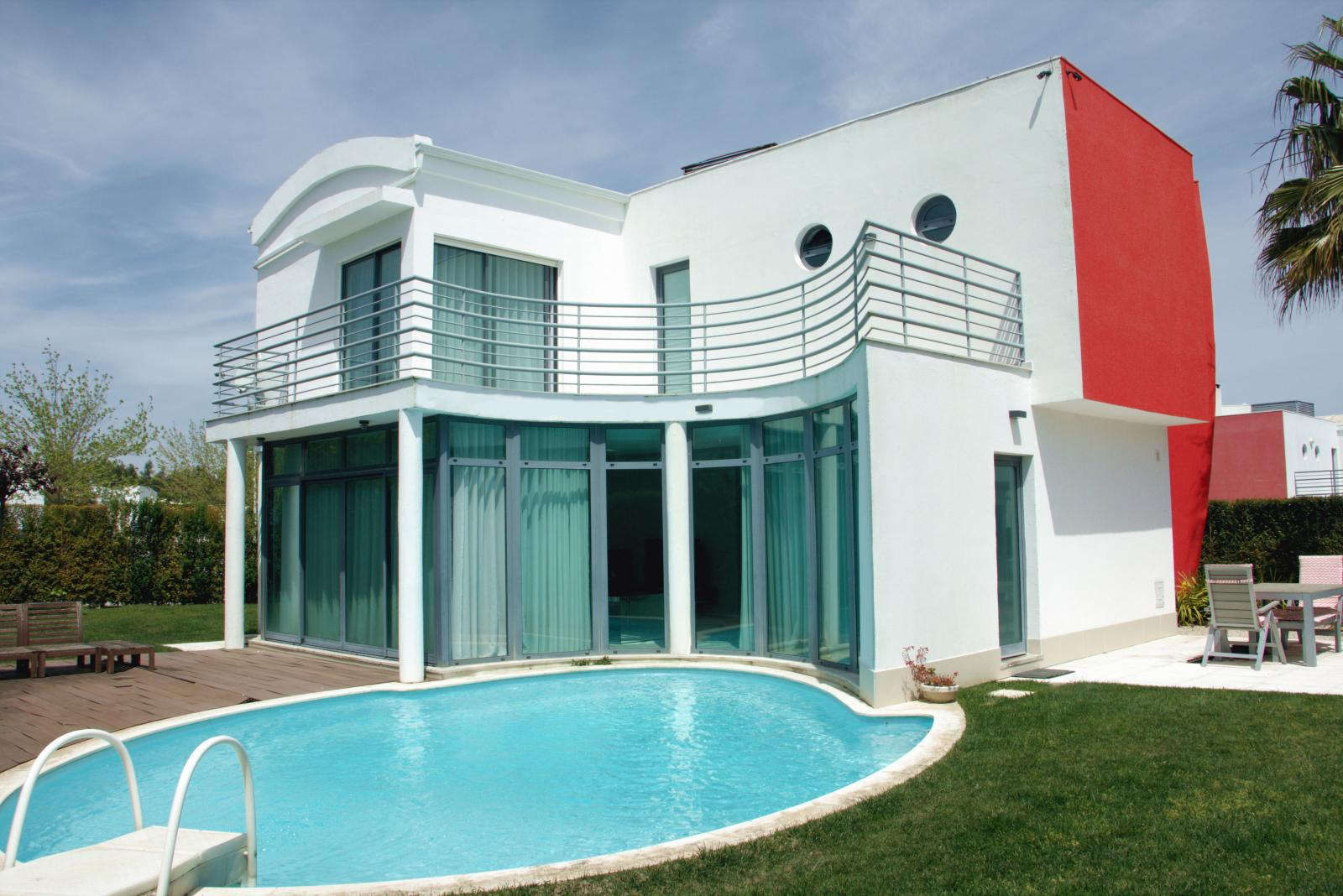 external view villa with pool