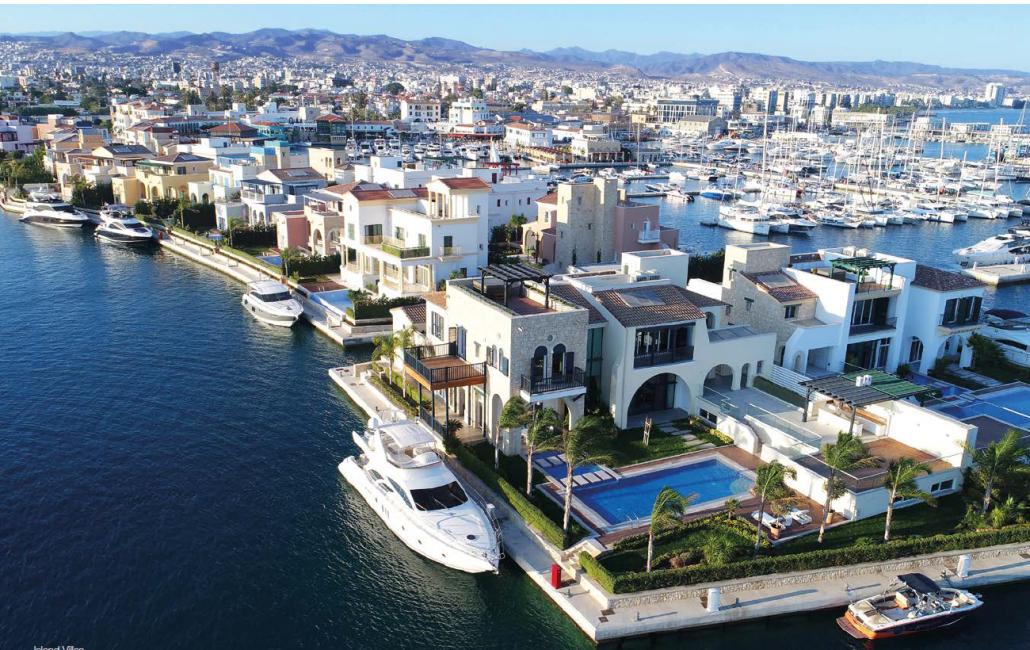 panoramic view modern luxury villa in Limassol Marina Cyprus