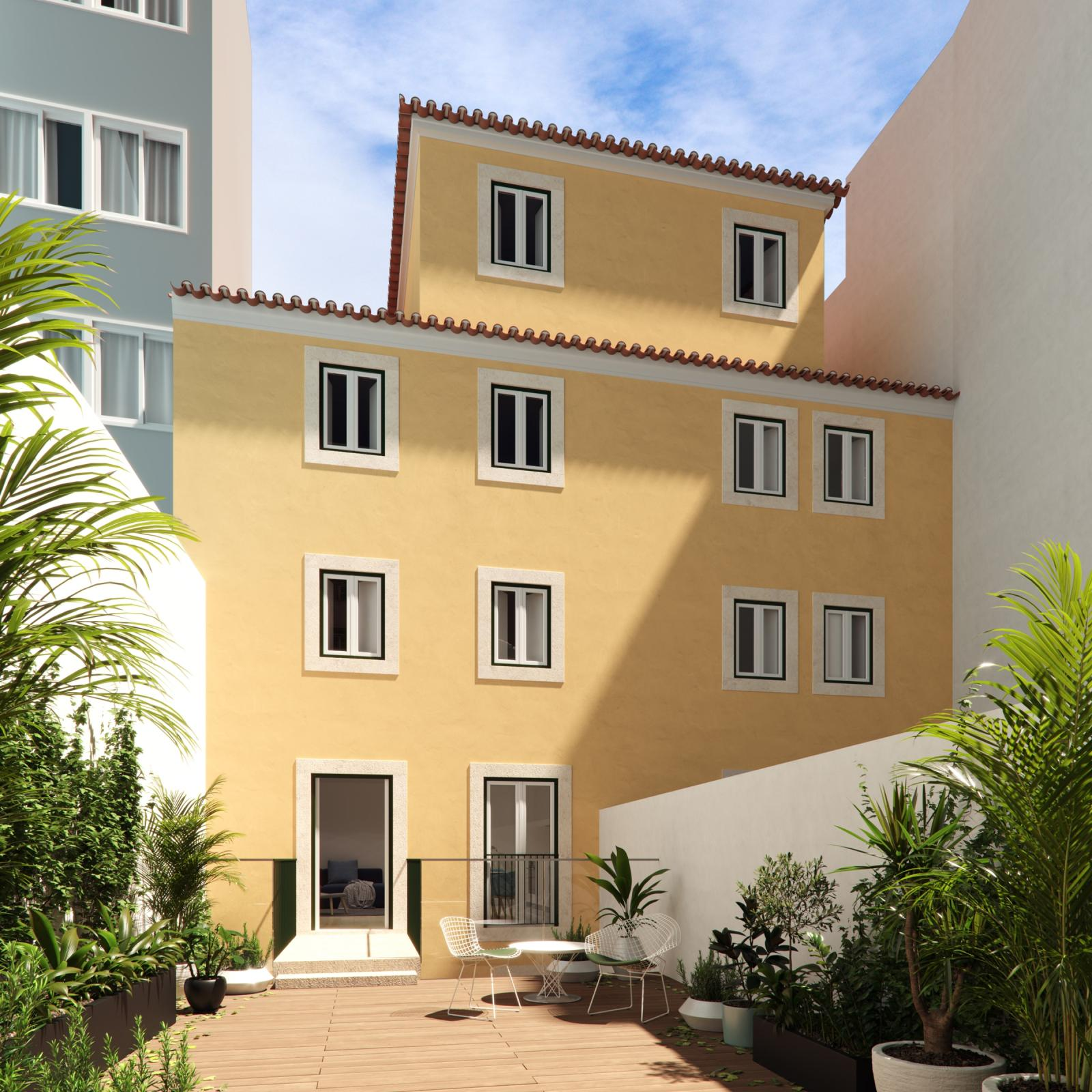 external view cozy building portugal real estate